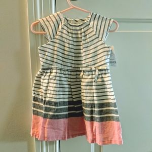 NWT Blue, White & Pink Dress-Great for Easter!